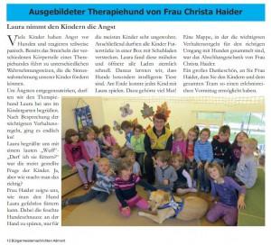 Ausgebildeter Therapiehund Nachrichten des Bürgermeisters Marktgemeinde Admont 2015